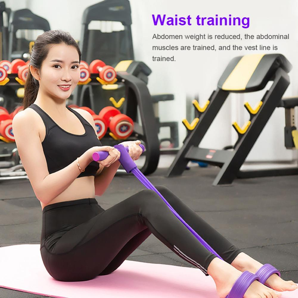 Resistance Elastic Pedal Puller Ropes Exerciser Rower Belly Resistance
