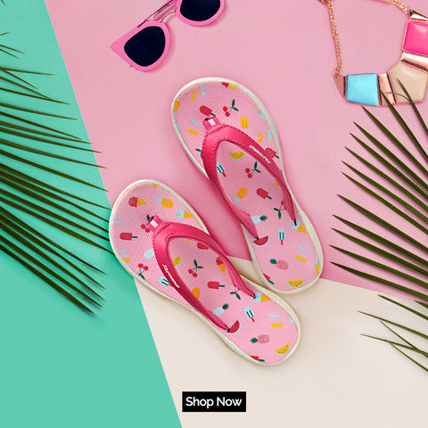 BLOSSOM TruBounce Flip Flops In Pink | Shop Now