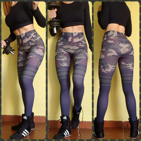 Mallas push up CAMUFLAJE