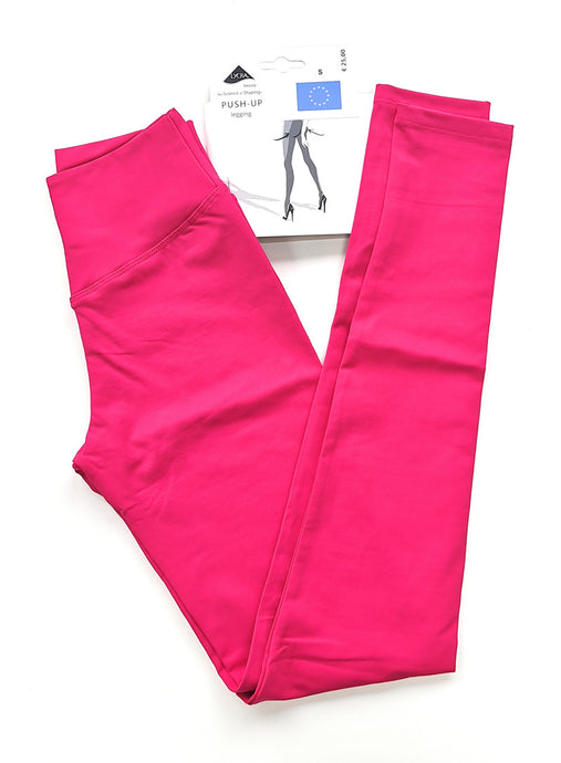 Mallas push up modernos lisa fucsia
