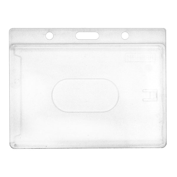 Ruckus Clear Hard Plastic Badge Holder (100 Pack)