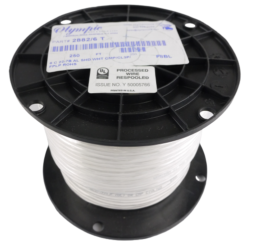 Olympic 2882/6T 22-6 Copper Wire 250' Roll