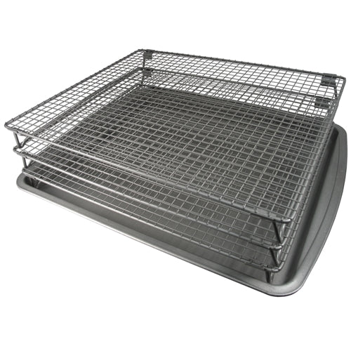 Weston Jerky Non-Stick 3-Tier Drying Rack with Baking Sheet