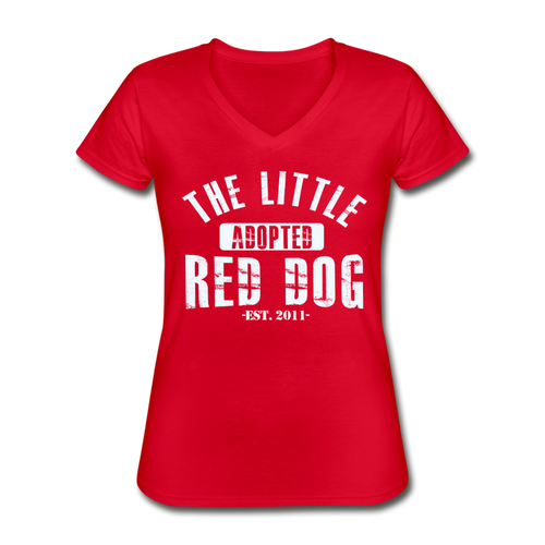Rescue Squad V-Neck T-Shirt (Red or Black) - red