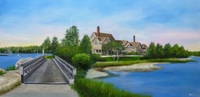 An example of a recently completed commission painting.