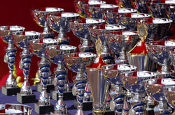 Rows of trophies