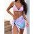 Tie Dye Bikini Set With Sarong