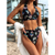 Scalloped Butterfly Print Bikini Set