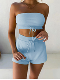 Chastity Strapless Top and Shorts Set