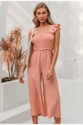 Bryony Ruffle Pleated Jumpsuit