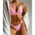 Padded High Cut Underband Bikini Set