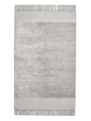 Karma Tassels Cloud Grey Rug