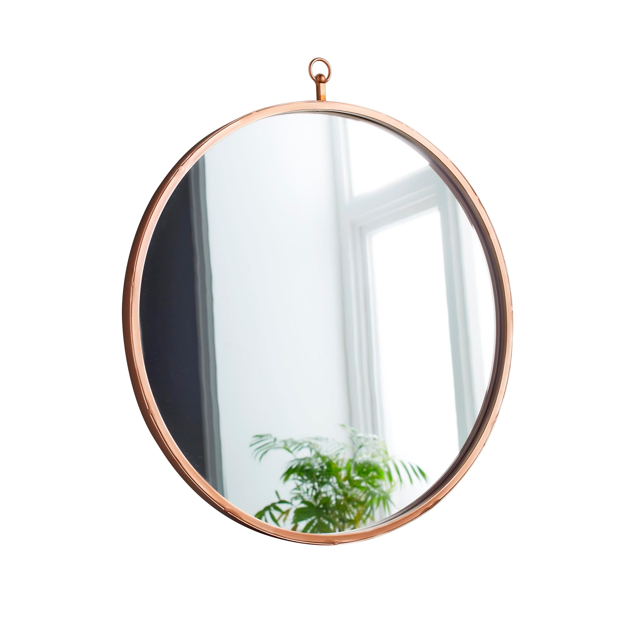 Pink Copper Round Mirror