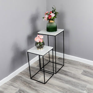 Marble Display Tables (set of 2)