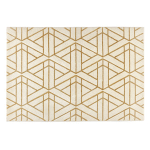 Escher Gold and Cream Rug