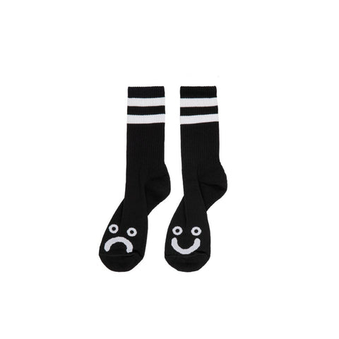 POLAR - HAPPY SAD SOCKS LONG BLACK