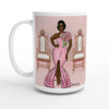 Queen White 15oz Ceramic Mug