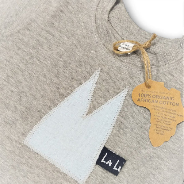 Baby T-Shirt mit DOM Applikation in Musselin - Handmade Cologne