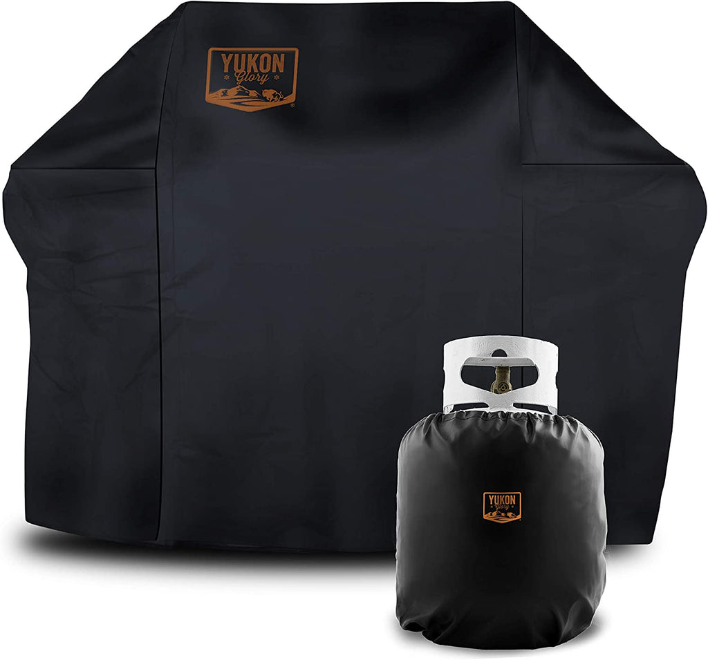 Grill Cover for CharBroil 2 Burner Gas Grills, Includes Bonus Propane Tank  Cover