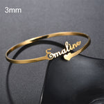 Customizable  Bangles Stainless Steel Jewelry