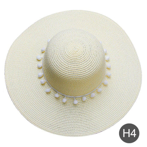 Customizable  embroidered text straw hat