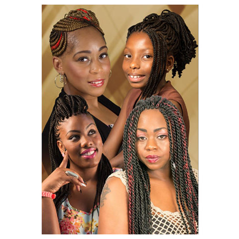 POSTER 118 24x36in 4in1-BRAIDS & TWISTS
