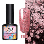 Nail Polish Rose Gold Glitter Sequins Soak Off UV Gel