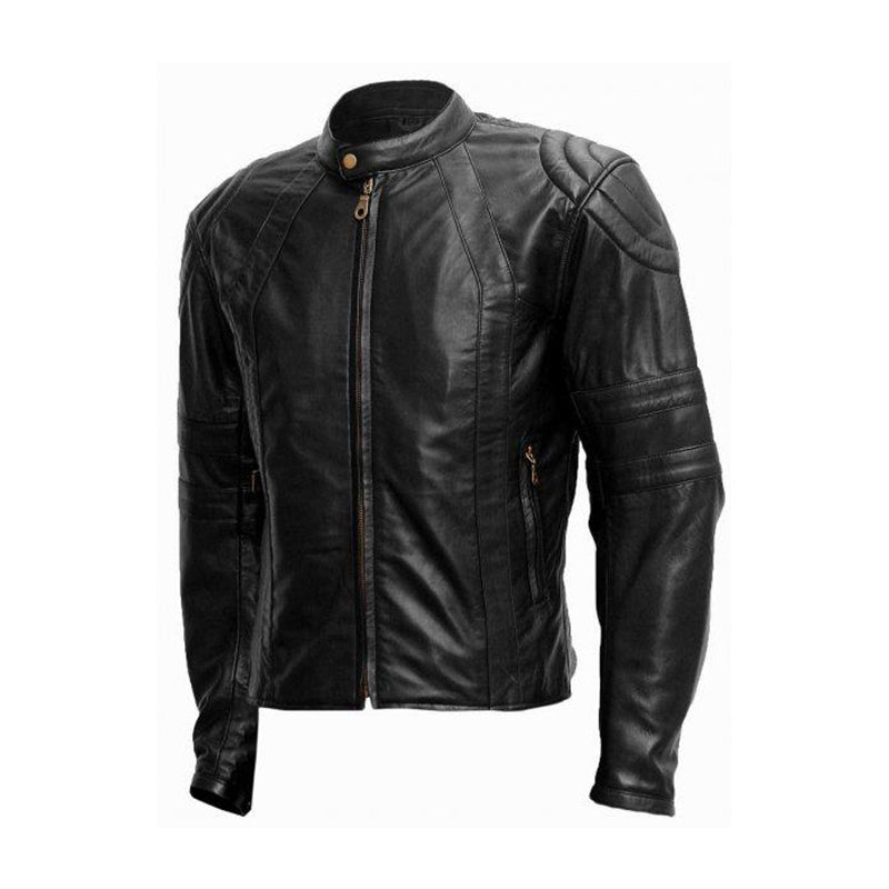 Soft Men's Black Leather Jacket