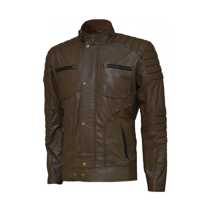 Quilted Men's Leather Jacket