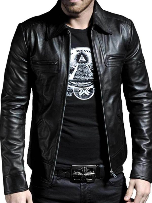 AIDAN WAITE BEING HUMAN LEATHER JACKET