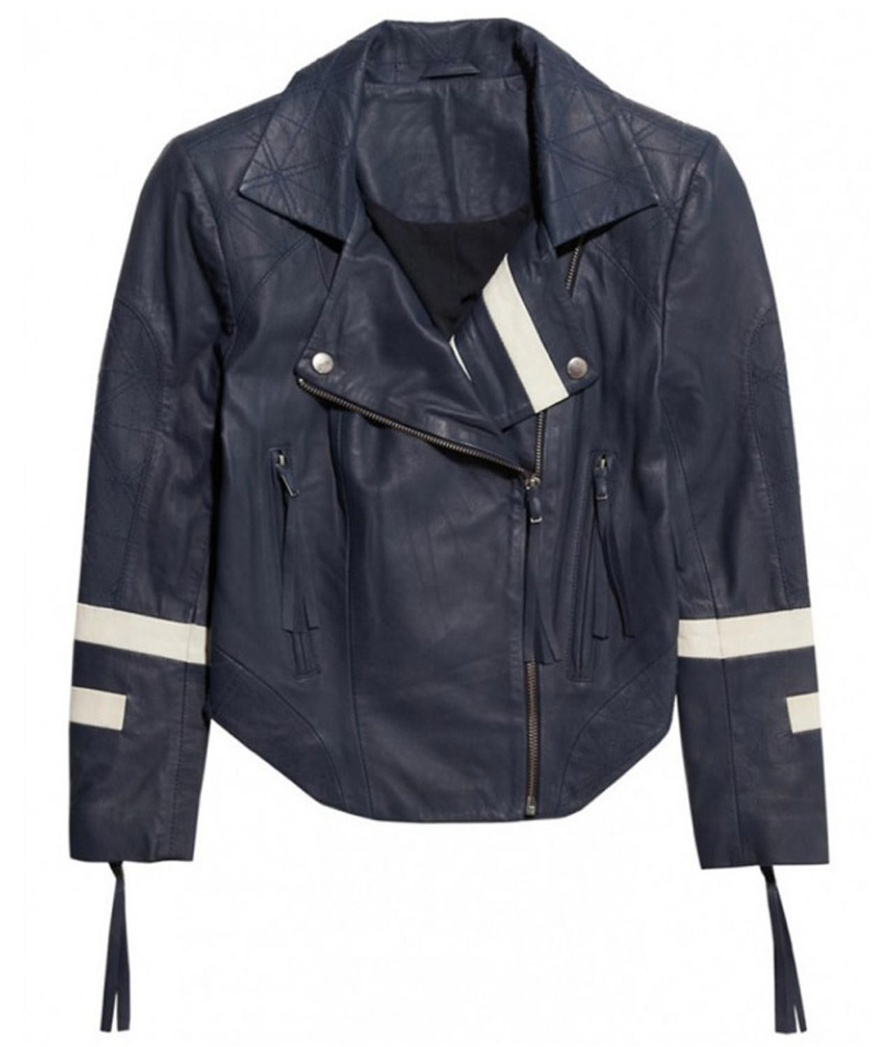 Agents of Shield Chloe Bennet Blue Leather Jacket