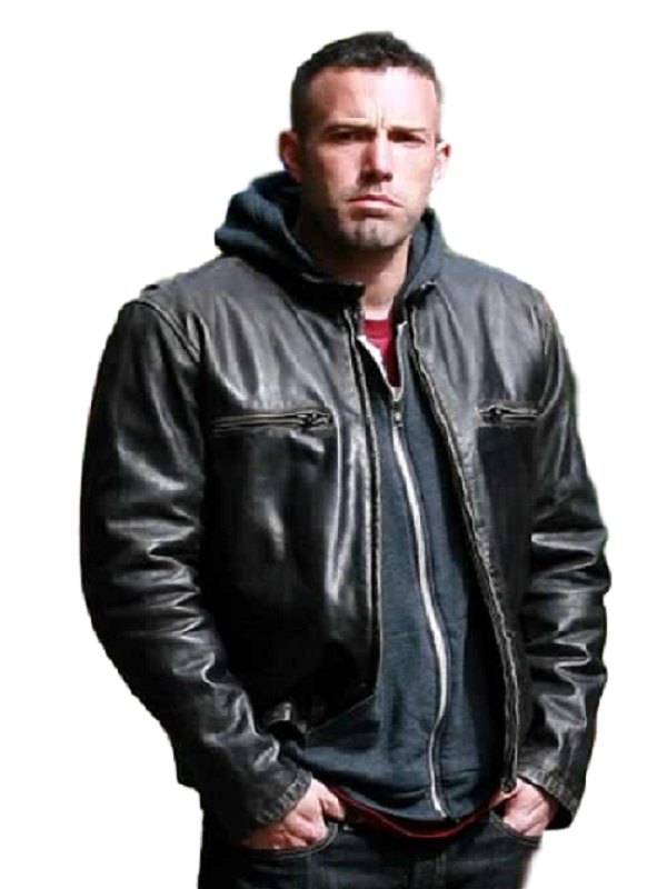 Ben Affleck Black Leather Jacket