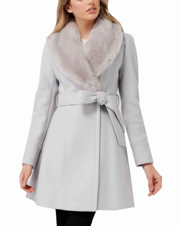 Bess Nancy Drew Wrap Fur Collar Coat