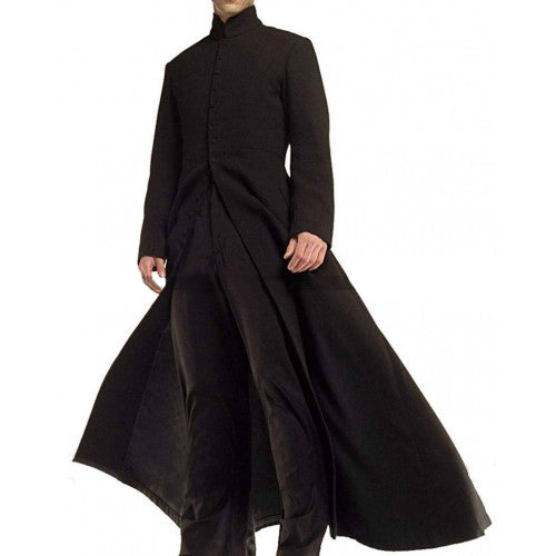 Keanu Reeves Black Trench Coat