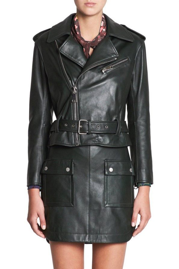 Black Women's Leather Jacket