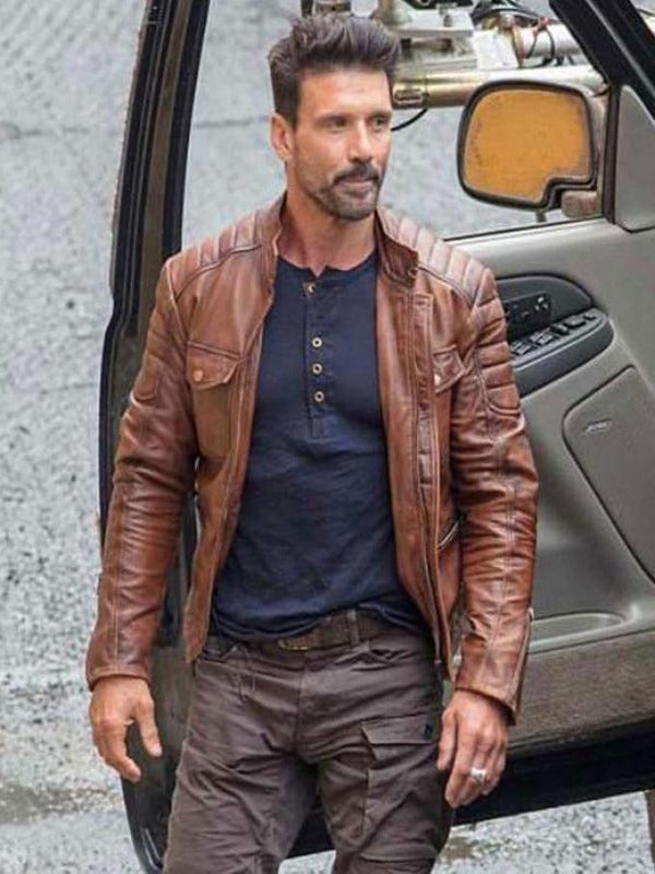 Boss Level Frank Grillo Leather Jacket