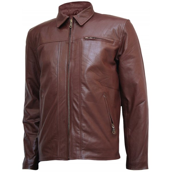Brown Fashion Leather Jacket for Men