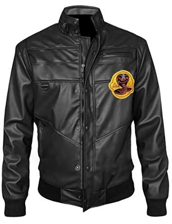 Cobra Kai Johnny Lawrence Karate Kid Leather Jacket Mens