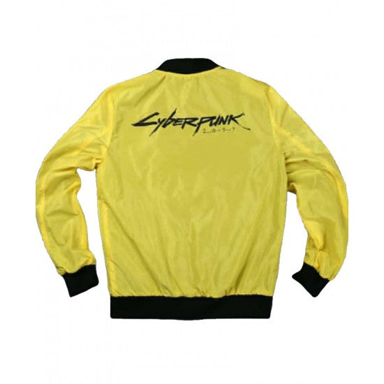 Cyberpunk Yellow Bomber Jacket