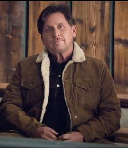 EMILIO ESTEVEZ SHERPA THE MIGHTY DUCKS LINED TRUCKER JACKET