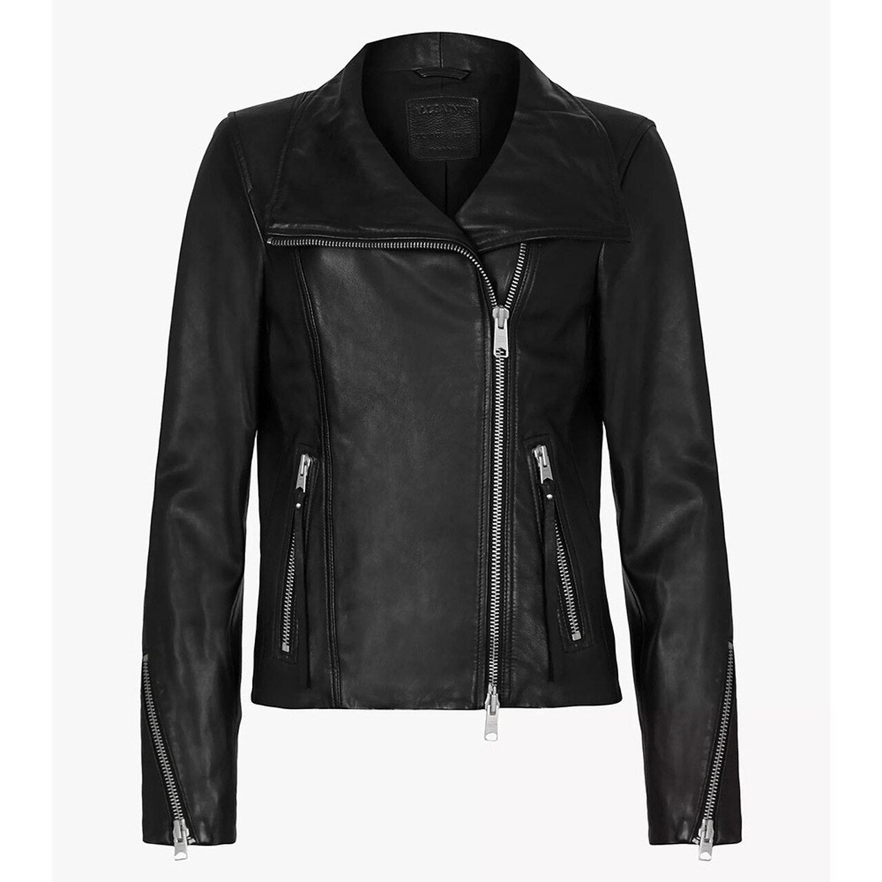 Ellis Women's Black Leather Jacket