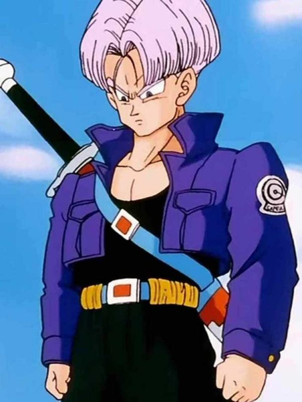 FUTURE TRUNKS BLUE LEATHER JACKET