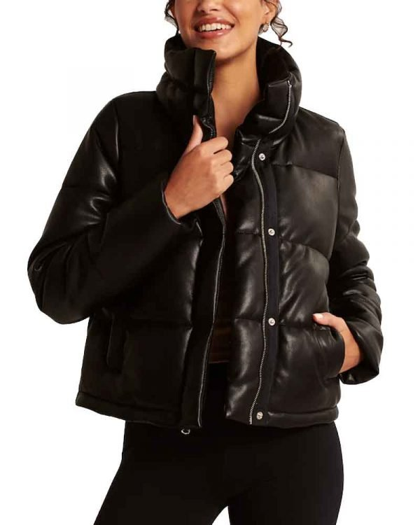 George Fan Nancy Drew S02 Leather Puffer Jacket