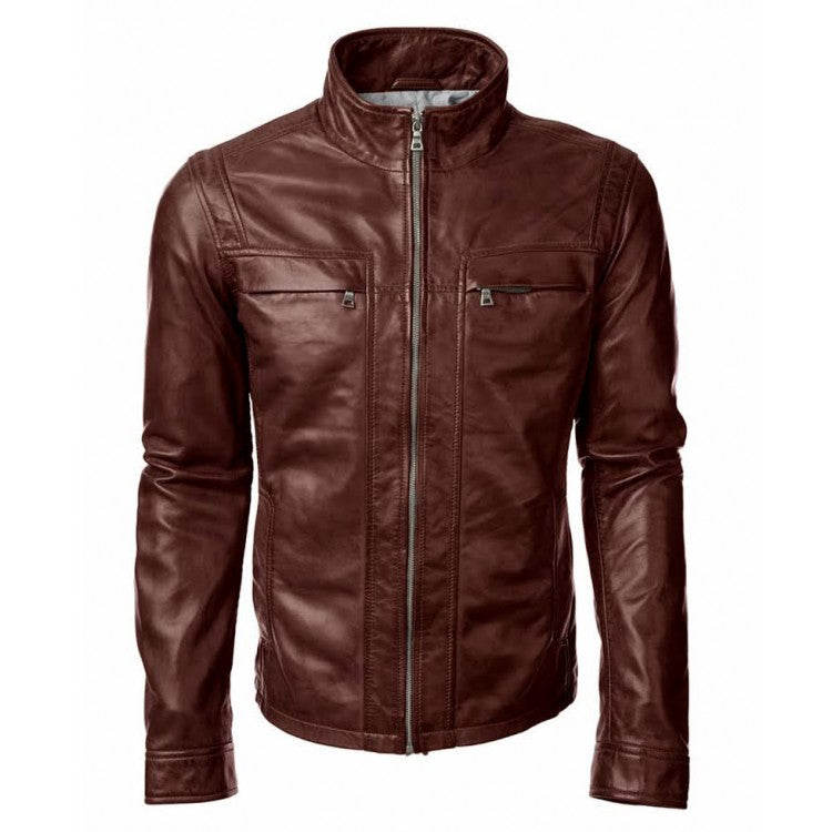 John Diggle Arrow Brown Leather Jacket