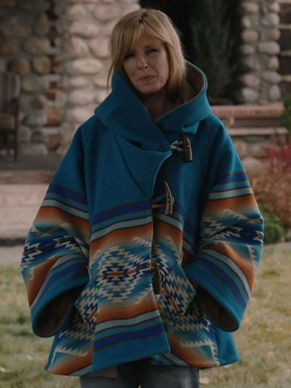 KELLY REILLY YELLOWSTONE SEASON 03 HOODED COAT