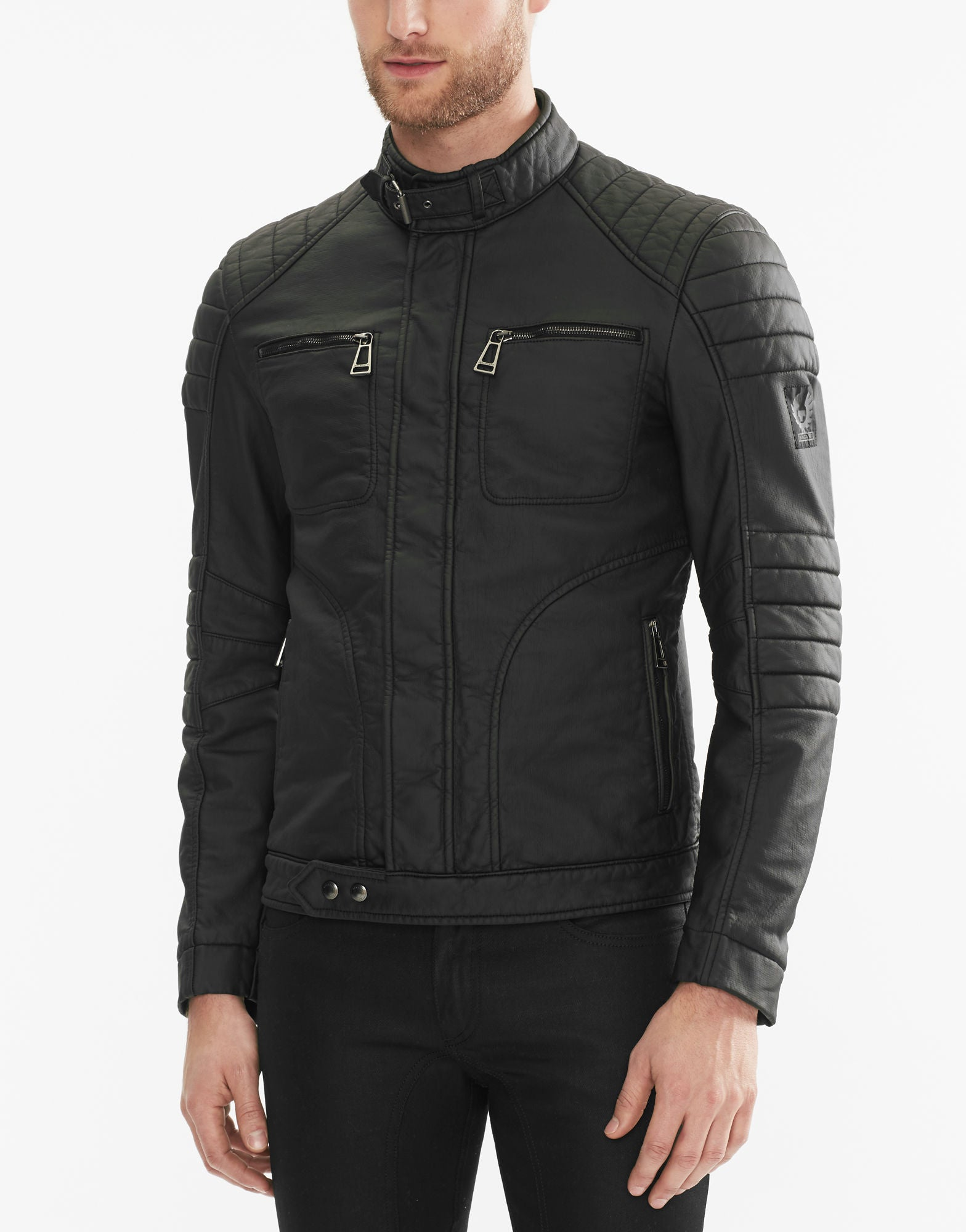 Malcolm Merlyn Black Leather Jacket