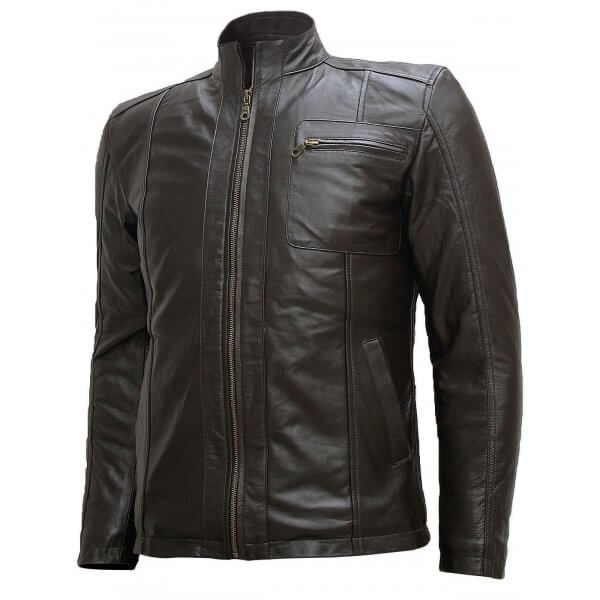 Men Soft Dark Brown Leather Jacket