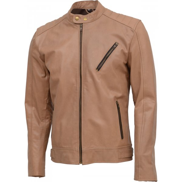 Men Zipper Street Style Leather Jacket