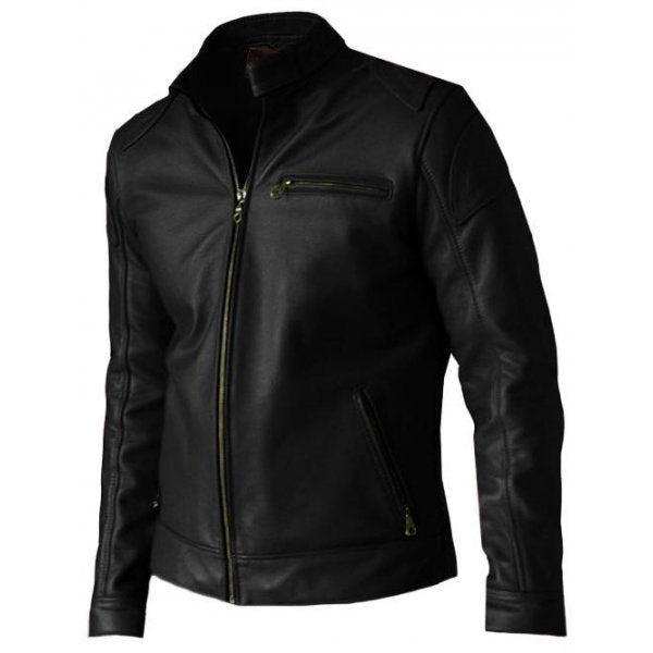 Men's Elegant Black Leather Jacket