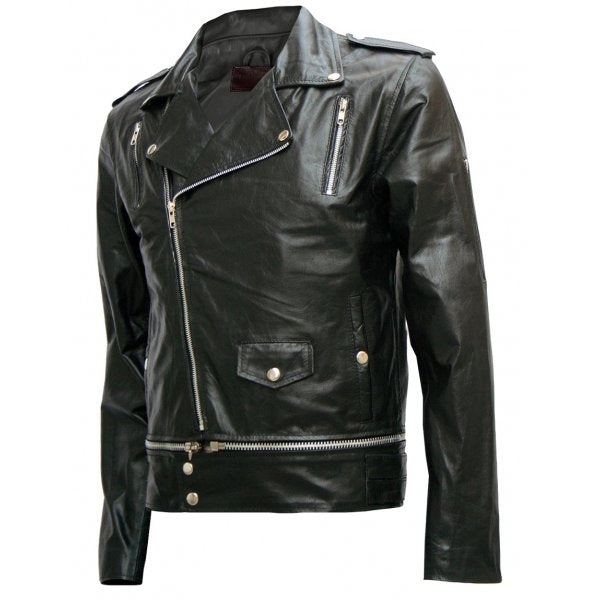 Men's Fascinating Black Leather Jacket